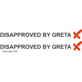"Dekal ""Disapproved by Greta"""