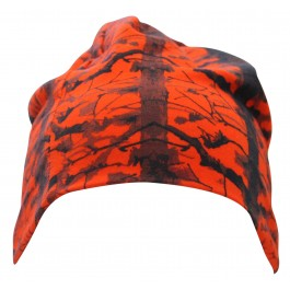 Kort Beanie Orange Camo