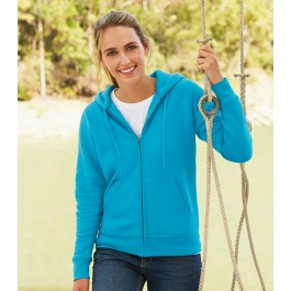 Ladies Zipped Hooded Sweat