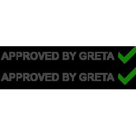 "Dekal ""Approved by Greta"""